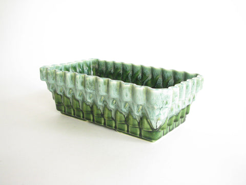 edgebrookhouse - Vintage Large Green Drip Glaze Pottery Planter by Ungemach Pottery Co. (UPCO)