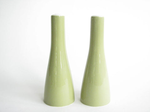 edgebrookhouse - Vintage Mikasa Sage Green Cera Stone Salt & Pepper Shakers