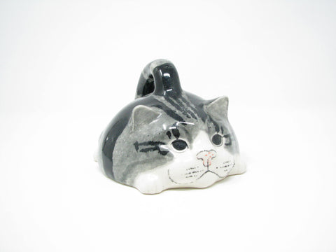 edgebrookhouse - Vintage Mike Hinton Ceramic Tabby Cat Decorative Butter Cheese Cover