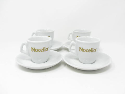 edgebrookhouse - Vintage Nocello IPA Italy Demitasse Espresso Cups & Saucers - 4 Sets - 2 Available