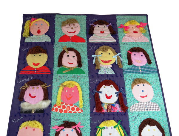 edgebrookhouse - Vintage One-Of-A-Kind Hand Made Quilt With Children