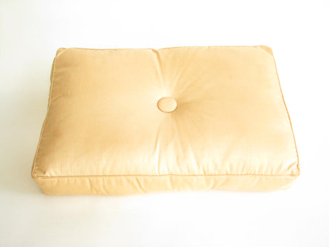 edgebrookhouse - Vintage Rectangle Decorative Pillow in Yellow Gold Fabric with Center Button