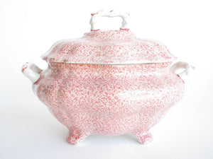 edgebrookhouse - Vintage Royal Crownford Country Chintz Pink Floral Lidded and Footed Soup Tureen