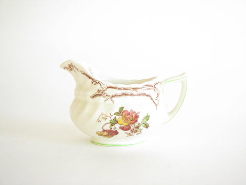 edgebrookhouse - Vintage Royal Doulton Chiltern Earthenware Creamer with Floral Design