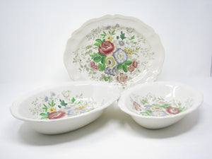 edgebrookhouse - Vintage Royal Doulton Malvern Earthenware Serving Platter and Bowls - 3 Pieces