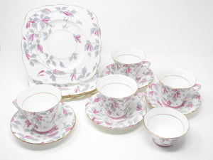 edgebrookhouse - Vintage Royal Grafton England Fine Bone China Ashley Tea Set - 13 Pieces