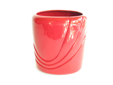 edgebrookhouse - Vintage Royal Haeger Art Deco Style Bright Lava Red Planter or Vase