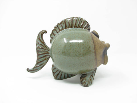 edgebrookhouse - Vintage Studio Art Pottery Fish Figurine with Open Mouth