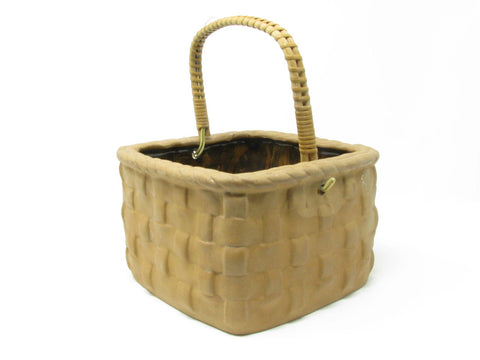 edgebrookhouse - Vintage Takahashi Tromp l'Oeil Basket Shaped Ceramic Planter