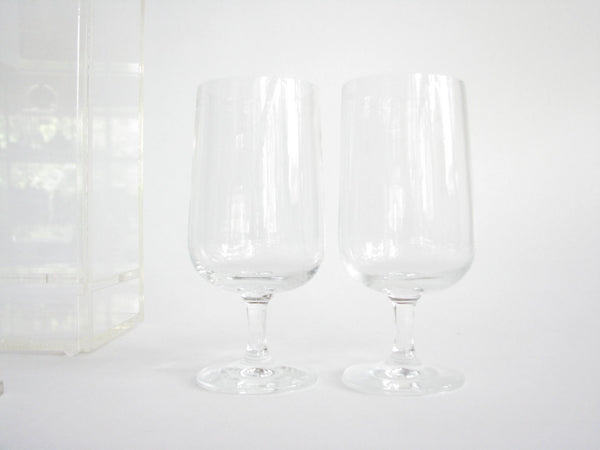 edgebrookhouse - Vintage Thick Acrylic Wine Bottle and Goblet Carrier or Holder - 3 Pieces