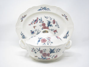 edgebrookhouse - Vintage Wedgwood Williamsburg Potpourri Serving Platter and Lidded Serving Bowl Dish - 2 Pieces