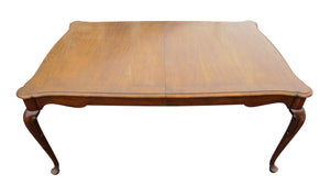 "edgebrookhouse - Vintage Baker Furniture Co ""Collector's Choice"" Queen Anne Dining Table with Leaves"
