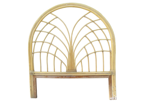 edgebrookhouse - Vintage Sculptural Bamboo & Rattan Full Size Headboard