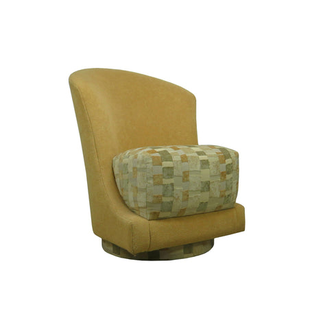 edgebrookhouse - Vintage Sculptural Hollywood Regency Swivel Slipper Chair by Precedent