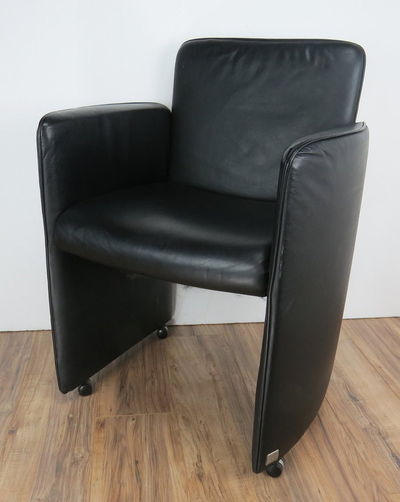 Astounding Early 21St Century Modern Calia Italia Black Leather Lounge Chair Beatyapartments Chair Design Images Beatyapartmentscom
