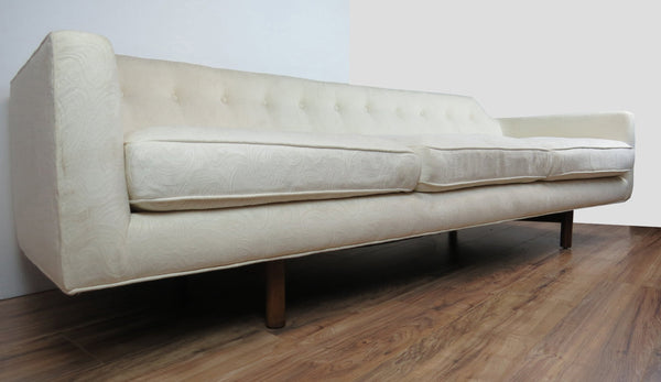 edgebrookhouse - edward wormley for dunbar mid century modern white curved corner sofa
