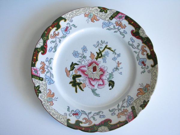 edgebrookhouse - Antique Ashworth Brothers Hanley English Dinner Plates - Set of 5