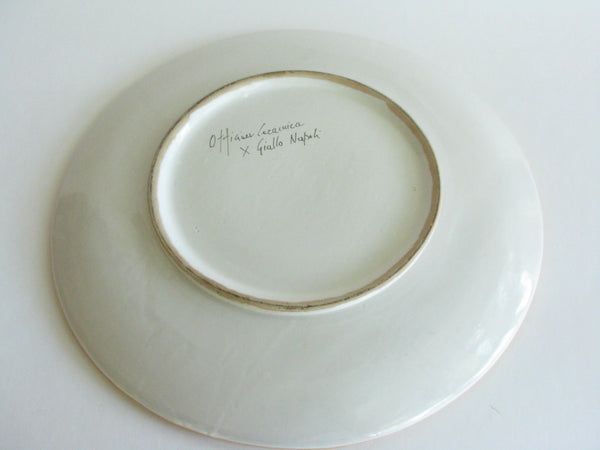 edgebrookhouse - Ceramic Pottery Platter Made in Naples, Italy Signed Ottigaci Ceza Cuica Giallo Napoli
