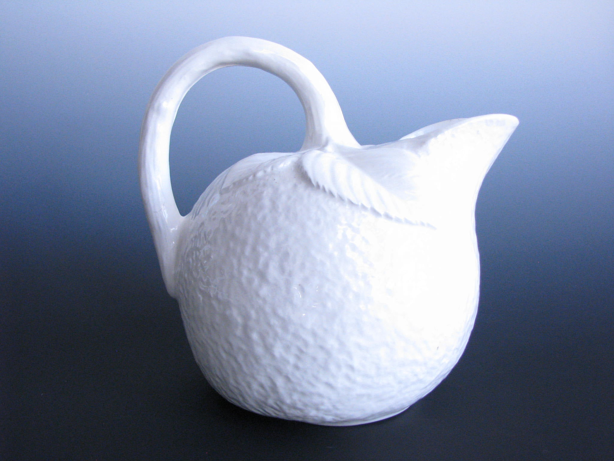 edgebrookhouse - Vintage White Ceramic Lemon Pitcher Made in Italy by Ancora