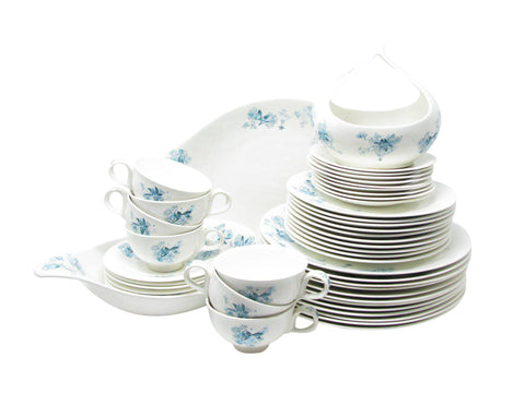 edgebrookhouse - Vintage Eva Zeisel for Hallcraft Frost Flowers Dinnerware Set - 48 Pieces