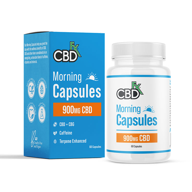 CBDfx CBD+CBG Morning Capsules 900mg