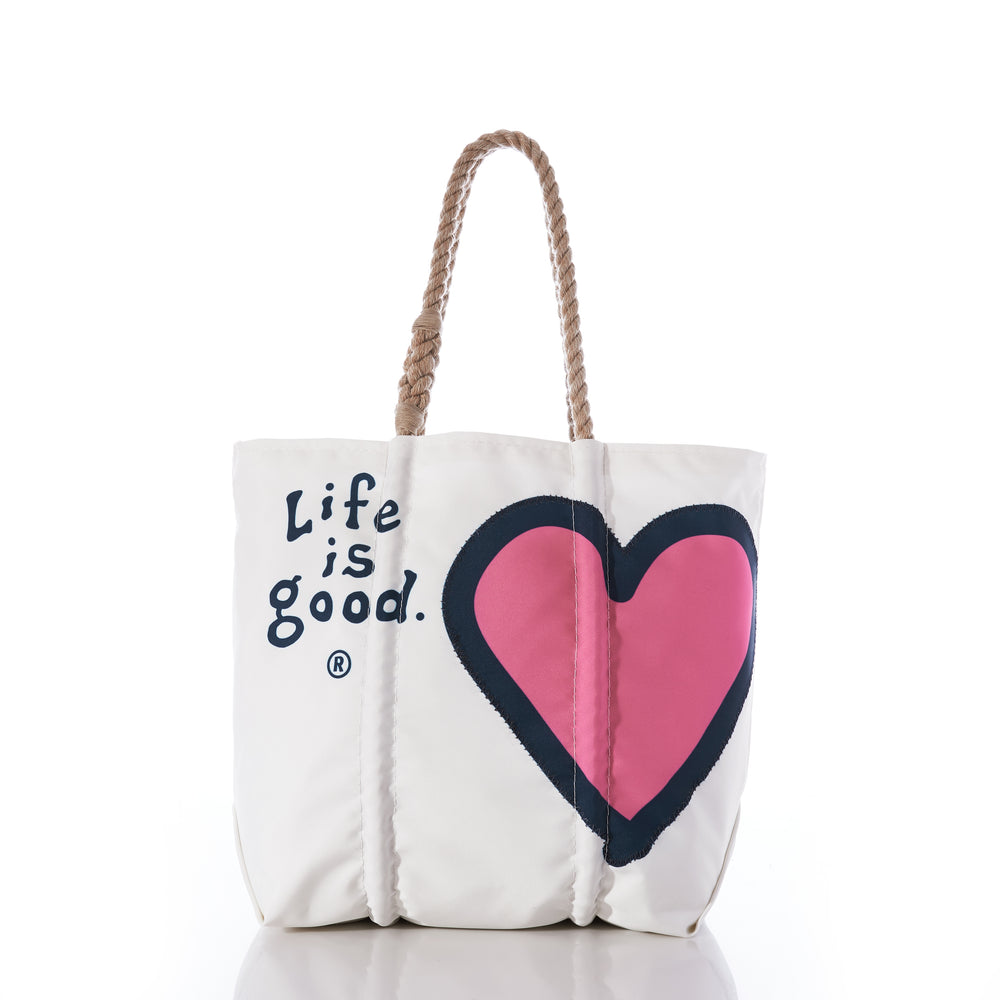 Life is Good® + Sea Bags Vintage Heart Tote