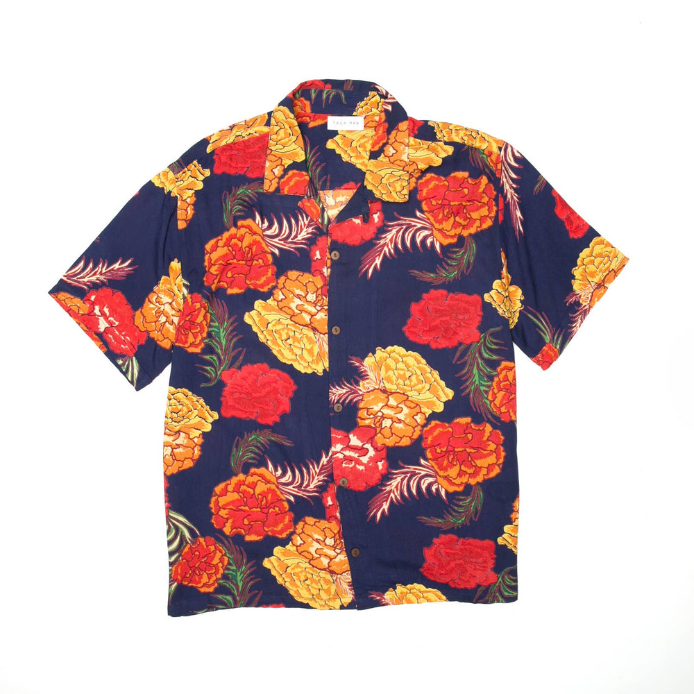 Men's Tropical Print Beach and Resort Shirt
