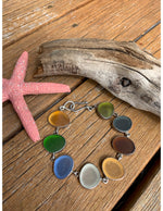 Multicolor Sea Glass Link Bracelet