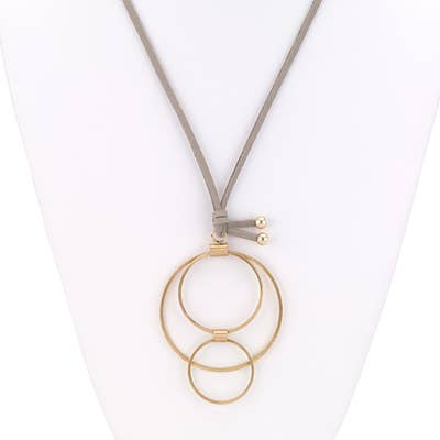 3 Ring Pendant Necklace
