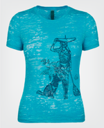 Water Girl Paddle Board T-shirt Turquoise