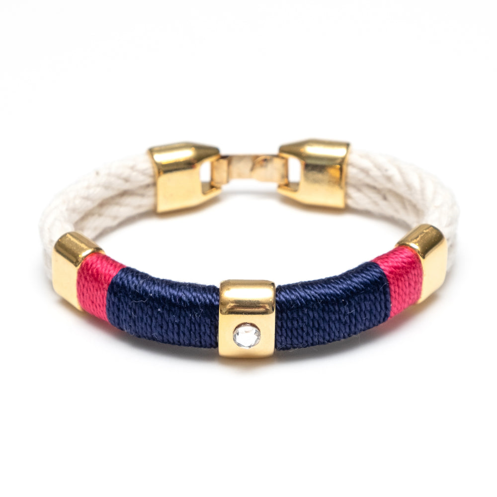 Allison Cole Kingston Bracelet - Ivory/Navy/Pink/Gold
