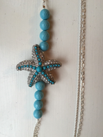 Seastar Turquoise and Sterling Silver Chain Necklace