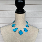 Turquoise and Howlite Statement Necklace
