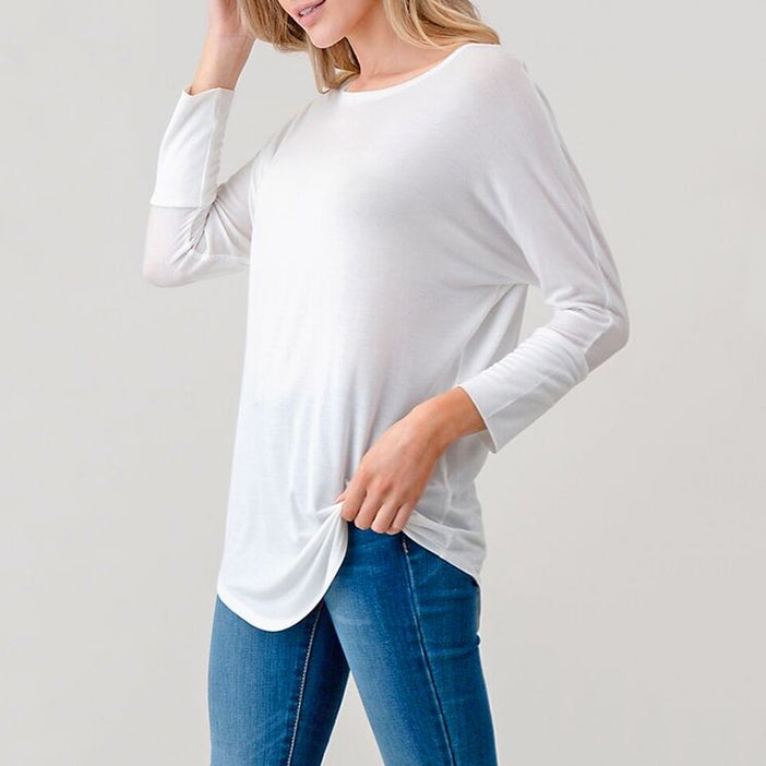 Loose White Top