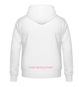 "Sweat à capuche - White - ""Kids Revolution"""