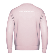 "Charger l'image dans la galerie, Sweat simple - Baby Pink - ""Kids Revolution"""