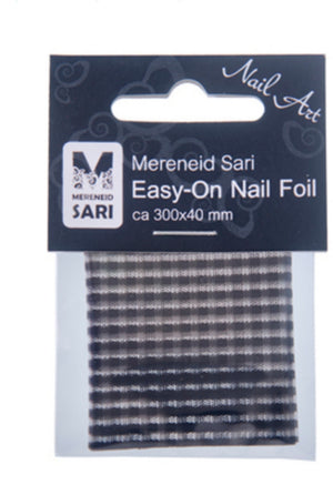 Easy-On Nail Foil - Black Transparent Grid