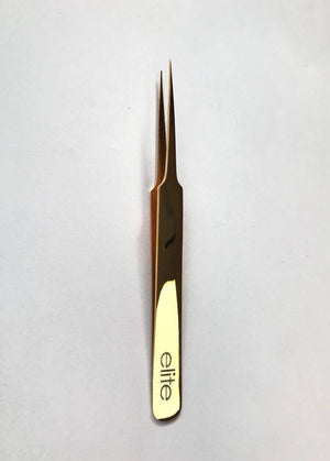 ELITE LASH TWEEZER - GOLD