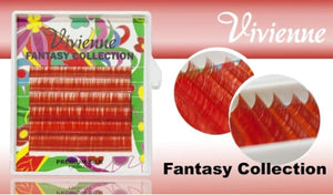 "VIVIENNE FANTASY COLLECTION ""GARNET"" 0.07 D MIXED LENGTH 8-13mm 6 LINES"