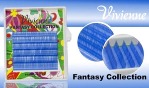 "VIVIENNE FANTASY COLLECTION ""SKY BLUE"" MIXED LENGTH 6 LINES D.10  8-13mm"