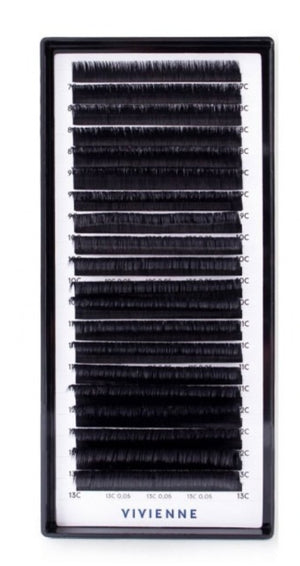 "ELITE EASY FAN ""Light bunch"" eyelashes black 0.05C (7-13)"