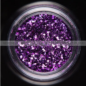 Glitter Dust - Hexi-mixed sizes Purple