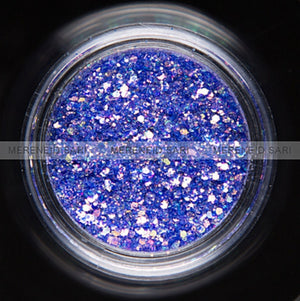 Glitter Dust - Hexi-mixed sizes Shining Purple