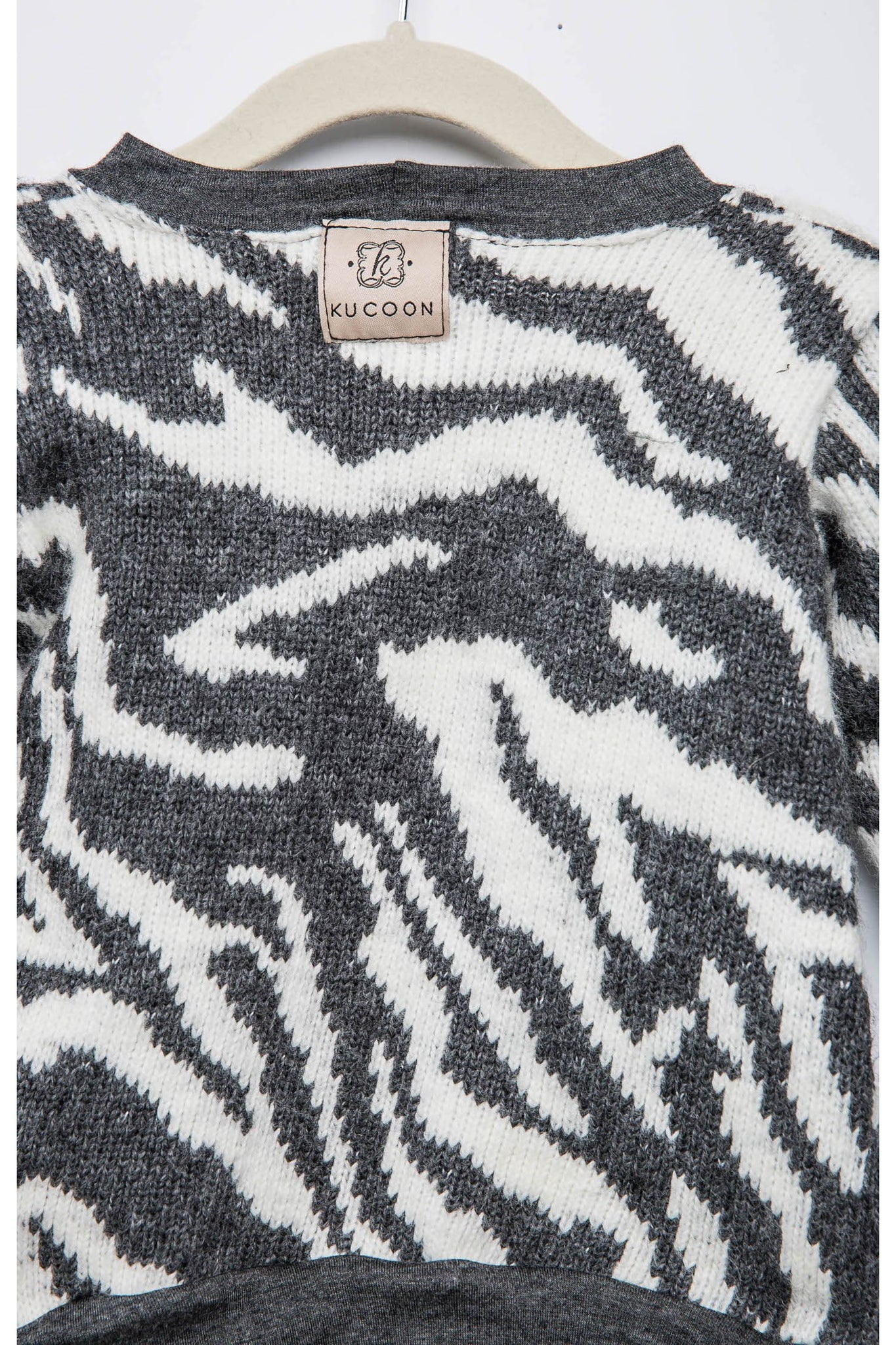 Grey Tiger Knit Sweater