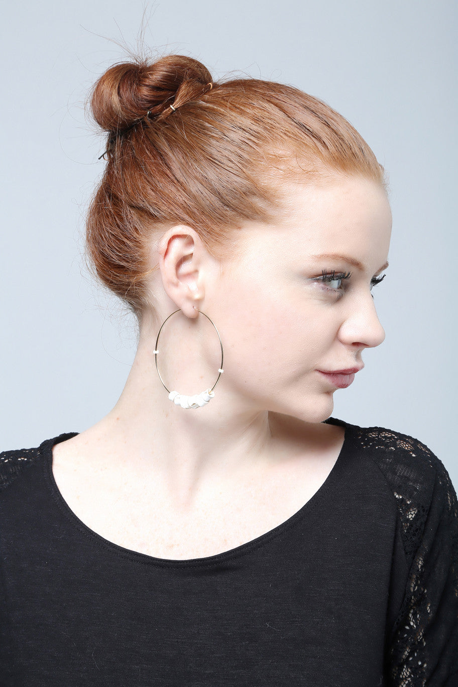 Vertebrae Gold Hoops