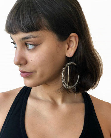 Silver Coil Hoops