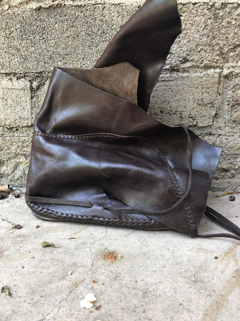 Patent Brown Leather