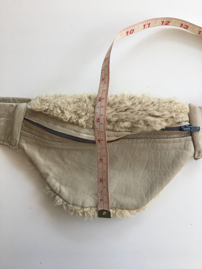 Sheep Fur Leather Fanny Pac