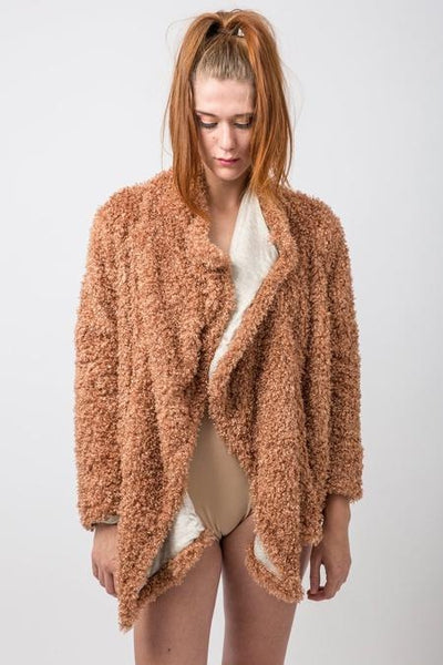 Faux Fur Copper Luxe Jacket