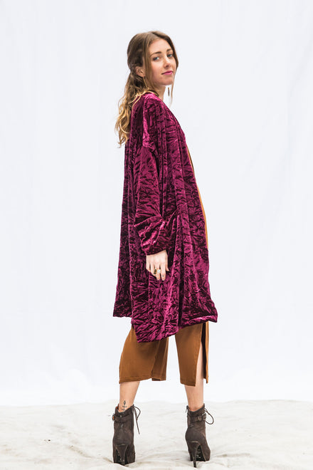 Gypsy Crushed Velvet Cardigan